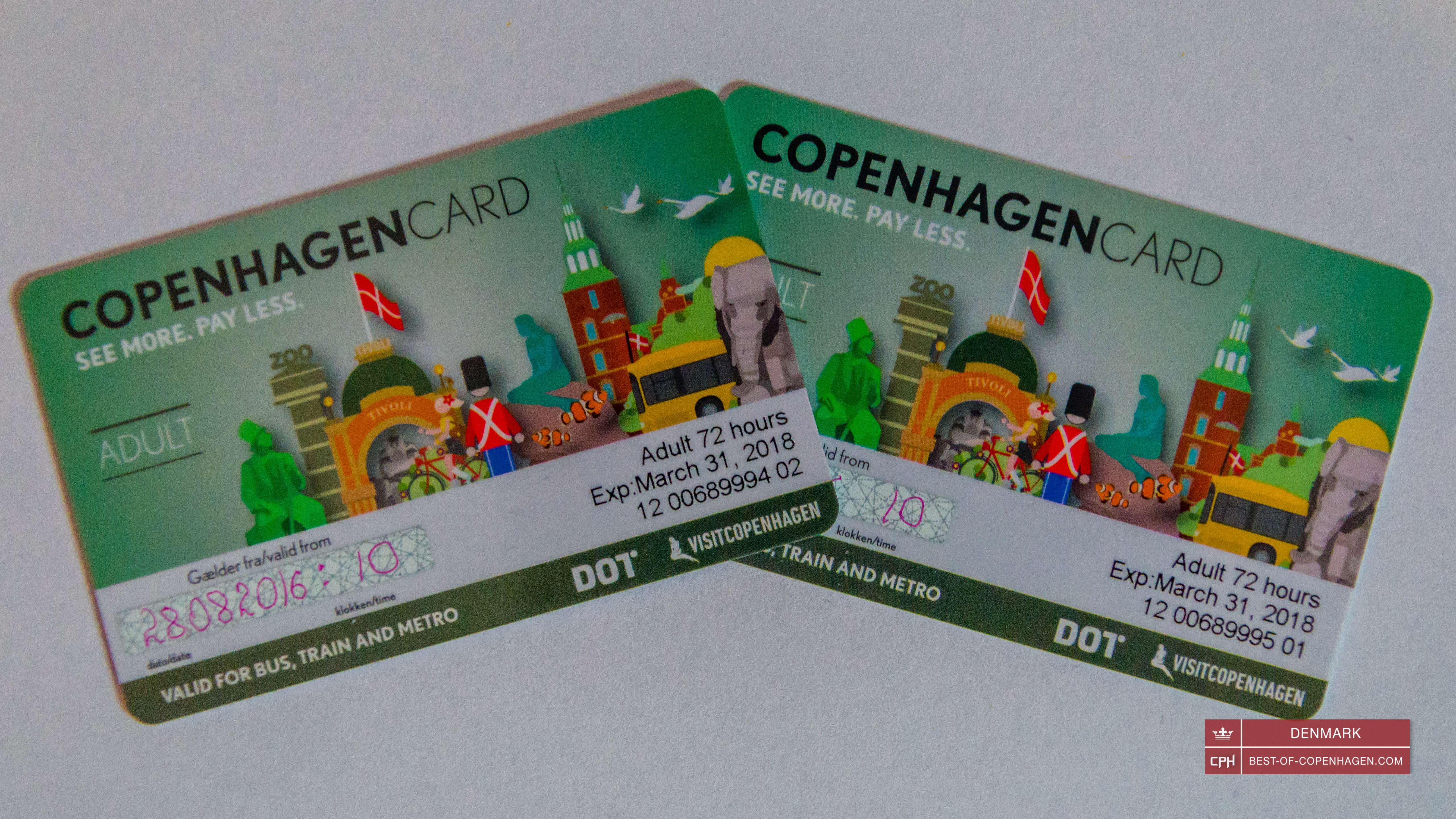 Copenhagen card for 72 hours, Denmark