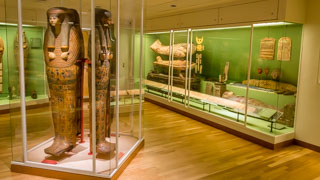 Egyptian mummies at the National Museum of Denmark, Copenhagen, Denmark