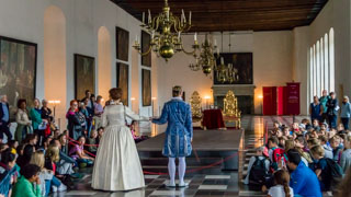 Live performance of Hamlet at Kronborg Castle in Elsinore (Helsingør), Near Copenhagen, Denmark