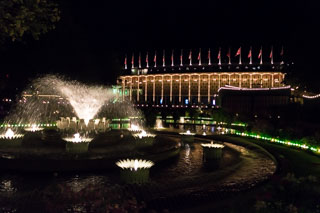 Tivoli Concert Hall by night, Copenhagen, Denmark