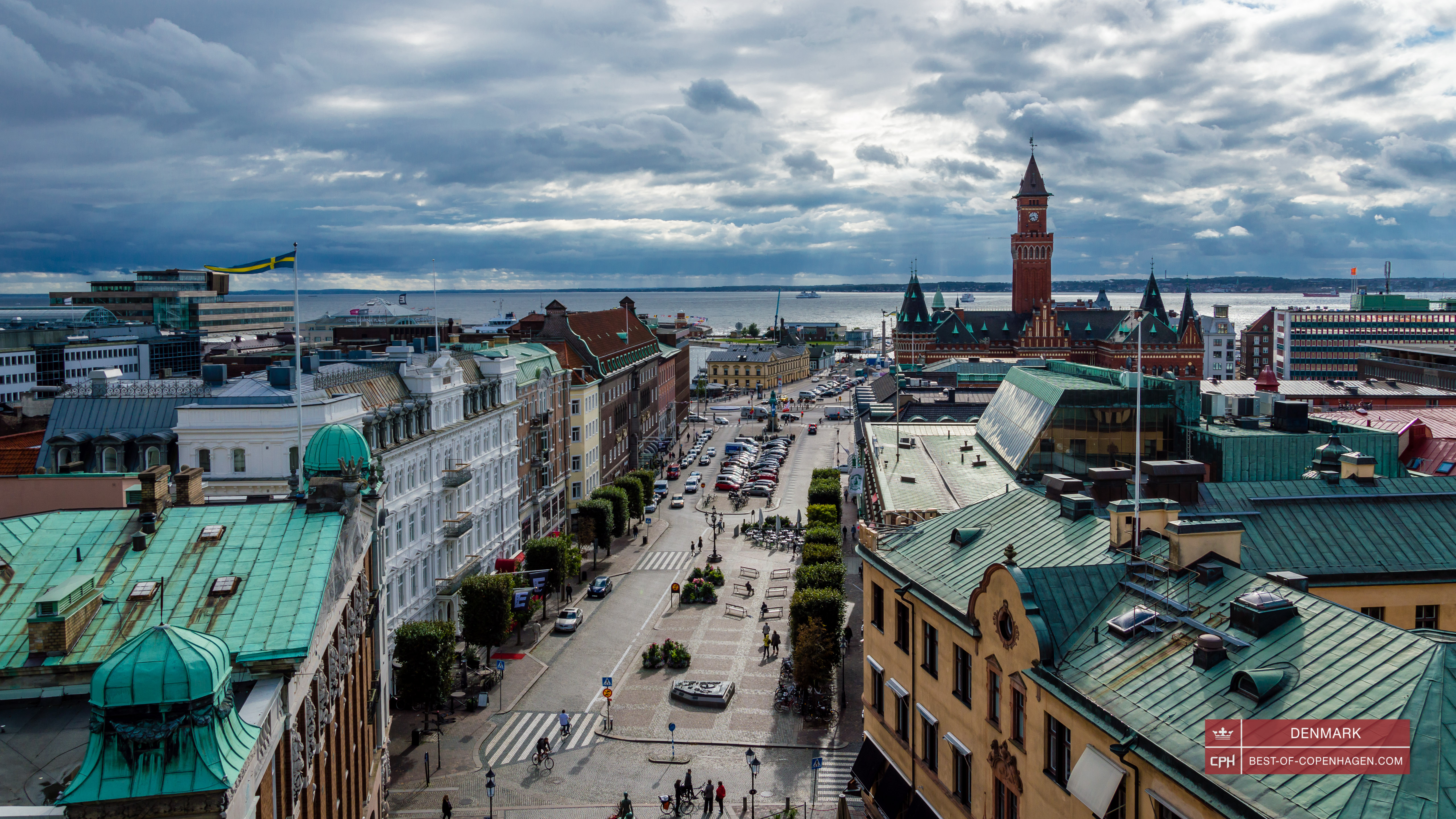 City center of Helsingborg, Sweden