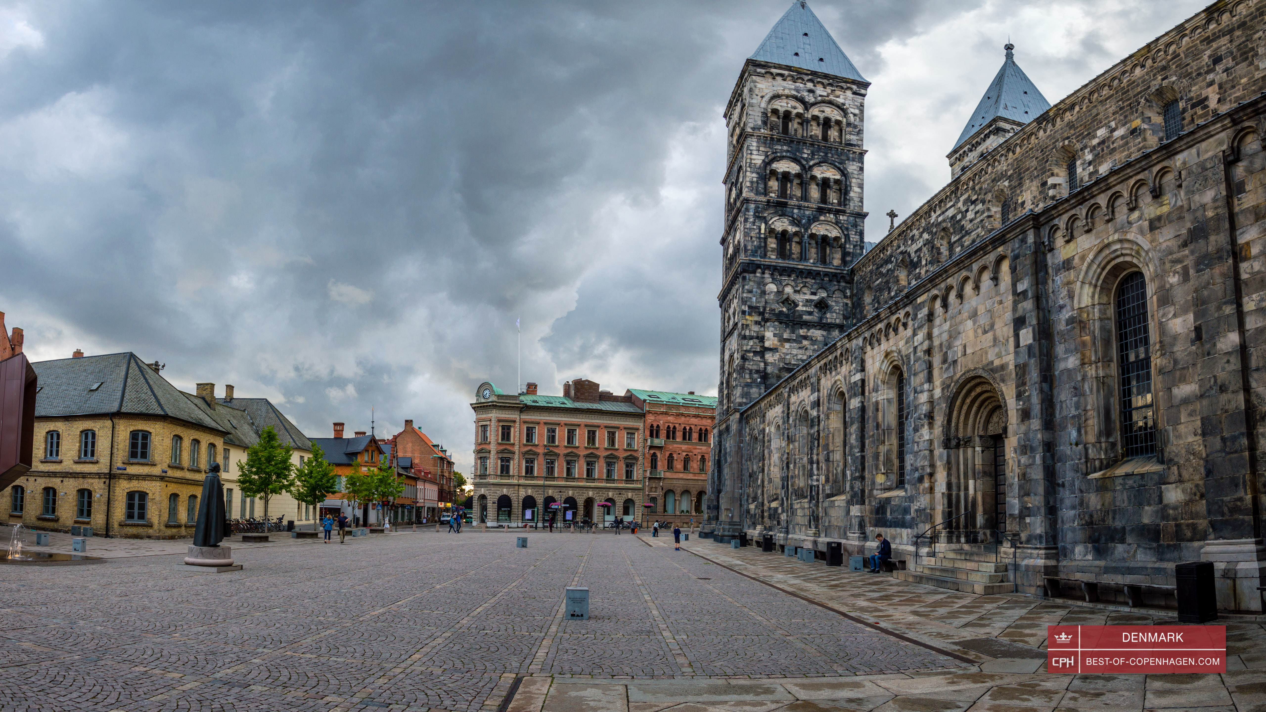 Lund Cathedral and its square, Sweden